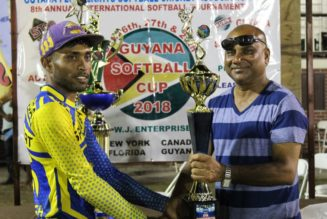 Guyana Softball Cup 8: Ariel Speedboat too fast for SVC New York