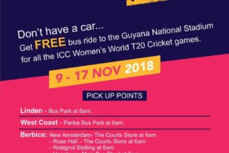 WWT20: Special shuttle for fans in Guyana and St. Lucia