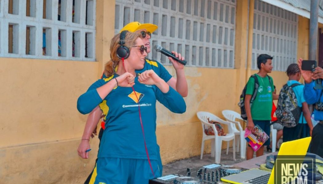 WWT20: Aussies bring on-field energy to Guyana outreach