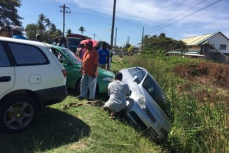 Four injured after driver slams into parked car